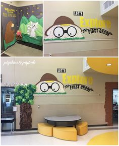 Jungle Classroom Door, Forest Theme Classroom, Rainforest Classroom, Elementary Classroom Themes, First Grade Classroom, School Themes, Classroom Decor, Classroom Camping Theme, Rainforest Theme