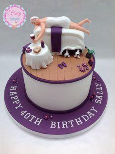 A Beauty Spa cake made by Fancy Fondant x