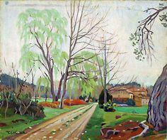 Vieille ferme en Provence-Huile sur toile (55x48 cm)- Edmond Astruc