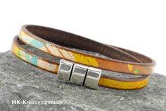 Wickelarmband Leder - multicolor von MK-Kreativschmuck auf http://de.dawanda.com/shop/MK-Kreativschmuck/3340939-Armbaender