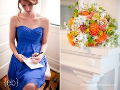 Love this color combo and bouquet!