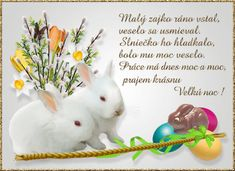 Gify Nena - Veľká noc str.2 Love Is Sweet, Rabbit, Easter, Retro, Animals, Advent, Smoothie, Bunny, Rabbits