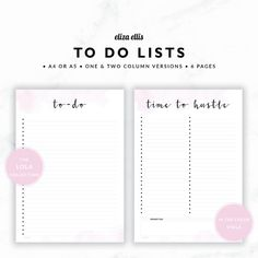 TO DO LISTS / To Do List Printable / 2017 Planner / Printable To Do Lists / To Do List / To Do / The Lola Planners in Viola / 415