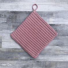Ribbed Potholder Crochet Kitchen, Crochet Home, Crochet Crafts, Crochet Projects, Free Crochet, Crochet Rugs, Crochet Things, Yarn Projects, Yarn Crafts