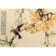 Not seeing figures for the trees; gingko on display Japan Painting, Ink Painting, Figure Painting, Watercolor Paintings, Chinese Painting, Chinese Art, Chinese Brush, Calligraphy Drawing, Art Thou