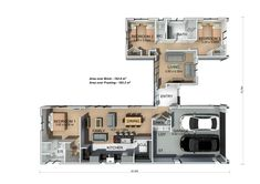 This home is spacious and enables a busy family to come together, but also provides space to retreat. #3bedroomhome #ngarotoplan #pavilionrange #generationhomesnz Bedroom House Plans, Pavilion, New Homes, Floor Plans, Layout, How To Plan, Building, Space, Floor Space