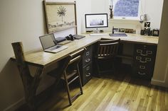 A couple months ago I started a project of building a new desk for our office out of reclaimed wood from old shipping crates that I took ap...
