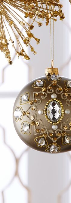 Embellished Antique Christmas Ball