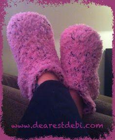 Soft Snuggly Slippers *Free Crochet Pattern* By DearestDebi