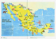 Map of Mexico by Tatsuro Kiuchi, via Flickr