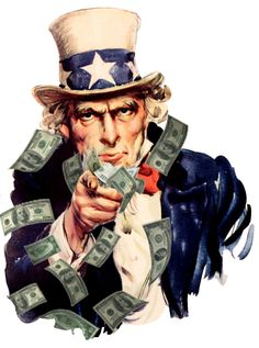 Uncle Sam symbolizes the US, which is a capitalist country.