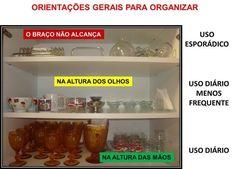 Uma dica óbvia -- mas nem sempre seguida -- para definir a prateleira ideal para cada item dentro do armário.