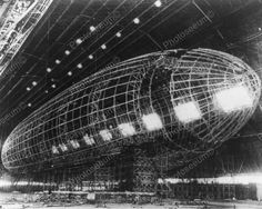 Worlds Largest Dirigible Near Completion 8x10 Reprint Of Old Photo