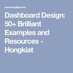 Dashboard Design: 50+ Brilliant Examples and Resources - Hongkiat