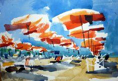 Ian Potts (b. Watercolor Artists, Watercolor Landscape, Abstract Watercolor, Artist Painting, Watercolour Painting, Watercolors, Traditional Paintings, Paintings I Love, My Arts