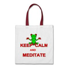 Keep Calm and Meditate Tree Frog Bag