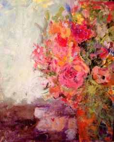 "Saatchi Art Artist: Sandy Welch; Acrylic 2014 Painting ""Flowers for dinner"""