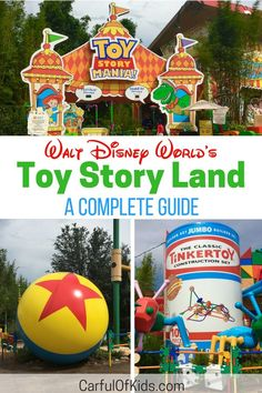 New for 2018 Hollywood Studio's Toy Story Land offers the favorite Toy Story Mania, along with a couple of new rides. Find your favorite Toy Story Characters and a new place to eat in this cute and cheerful area. Disney Vacation Planning, Disney World Planning, Disney World Vacation, Disney World Resorts, Disney Vacations, Disney Travel, Disney World Food, Trip Planning, Disney World Tips And Tricks