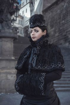 Victorian Winter Gothic Costume by BlackMart