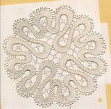 Bruges lace doily.