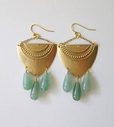 Aventurine Drop Earrings | Jewelry Earrings | C. Alexandria | Scoutmob Shoppe | Product Detail