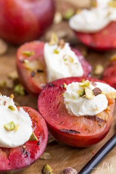 Grilled Plums with M