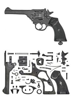 United Kingdom – Webley Revolver Mark IV During the Interwar Period the British… Military Weapons, Weapons Guns, Guns And Ammo, Webley Revolver, Revolver Pistol, Le Far West, Firearms, Hand Guns, Wwii