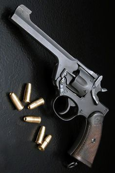 Webley Mk.IV revolver in .455 Webley Nice, plenty powerful but impractical for home defense. Better arms are available.