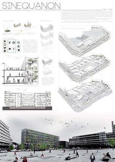 LAYOUT- The Top Three Winners of the International Gastronomic Center Brussels Competition 2013 Architecture Design Concept, Architecture Presentation Board, Architecture Panel, Architecture Graphics, Architecture Portfolio, School Architecture, Architectural Presentation, Architectural Design Competition, Architecture Diagrams