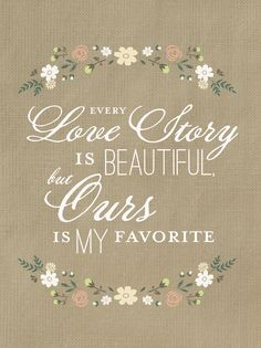 Love Story Quote Printable