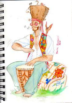 CDC: Hippie!, Maria Scorzelli on ArtStation at https://www.artstation.com/artwork/4z0Lk