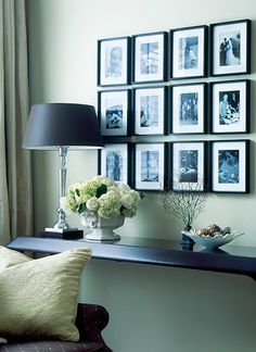 neat + clean gallery wall