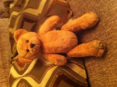 Found on 06 Oct. 2015 @ Newington Green, London. Small golden brown teddy bear (a bit muddy!) found at the side of the road around Newington Green. Now in the warm and dry and being looked after, but he would much rather be at home! Visit: https://whiteboomerang.com/lostteddy/msg/mm2rvs (Posted by Lindsay on 08 Oct. 2015)