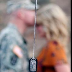 For all the military girlfriends/wives :) Our Engagement Pictures: diamonds & dog tags (Photo Credit - Nam Beach Photography)