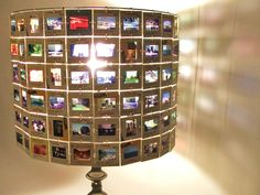 France Italy Europe Travel Lamp Shade made from Vintage 35mm Slides. $72.00, via Etsy.