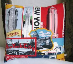 decorative pillow  New York pillow  man cave pillow  by chezlele, $31.50