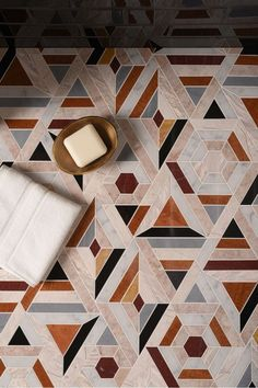 The Nordroom - 25 Inspiring Bathrooms With Geometric Tiles  image; pinterest