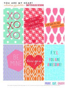 More free printable valentines? Okay. - Smitten Blog Designs