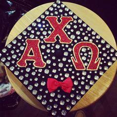 tis the season for… grad cap crafting! Graduation Caps, Grad Cap, Greek Crafts, Cap Decorations, Cap Ideas, Alpha Chi, College Life, Tis The Season, Crafting