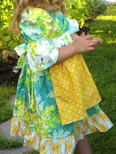 Sunshine Lagoon Milkmaid Dress by Palm Tree Princess, via Flickr