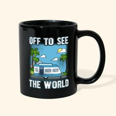 Camper RV Traveller Adventure - Full Color Mug #coffeemug #camping Birthday Gifts For Boyfriend, Husband Birthday, Just Because Gifts, New Baby Products, Rv, Camper, Birthday Ideas, Mugs, Adventure
