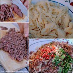 Spicy Green Mango: Celebrating with Good Fortune Lao Beef Salad {Larb} Larb Salad, Beef Salad, Asian Recipes, Beef Recipes, Cooking Recipes, Thai Recipes, Chinese Recipes, Cooking Ideas, Dinner Recipes