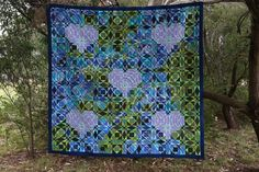 Love Calms the Seas, hand quilted with Aurifil mako cotton, foundation pieced using freezer paper method and sewn with Aurifil 50 wt cotton. Storm At Sea Quilt, Quilt Labels, Foundation Piecing, Freezer Paper, Quilt Festival, Color Of Life, Hand Quilting, Great Friends, Seas