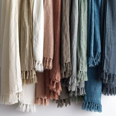 Belgian Linen Fringed Throw