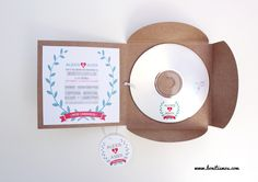 Invitations with soundtrack? Cd Design, Paper Design, Unique Wedding Invitations, Wedding Stationary, Wedding Paper, Wedding Cards, Magic Day, Disco Party, Paper Goods