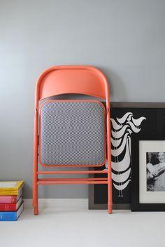 DIY metal folding chair makeover