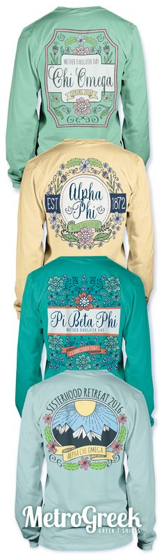 Cute Sorority Hand Drawn T-shirt Ideas | Sisterhood T-shirts | Mother Daughter T-shirts | Sorority T-shirts | Greek T-shirts | Greek Life | Chi Omega | Alpha Phi | Pi Beta Phi | Alpha Chi Omega|