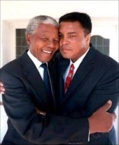 Nelson Mandela and Mohammad Ali