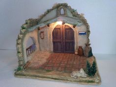 Diy Crib, Portal, Xmas, Christmas, Projects To Try, Diorama, Miniatures, Diy Crafts, Painting