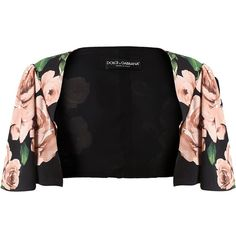 DOLCE & GABBANA floral shrug ($795) ❤ liked on Polyvore featuring outerwear, jackets, cropped shrug, cropped shrug cardigan, short sleeve shrug, shrug cardigan and short sleeve shrug cardigan